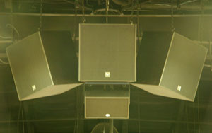 POGO-aligned loudspeaker cluster at Derwood Bible Church