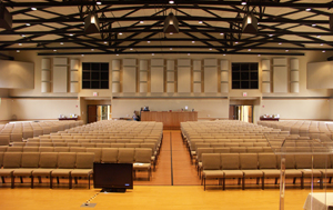 Acoustic finishes at Fellowship Bible Church in Topeka