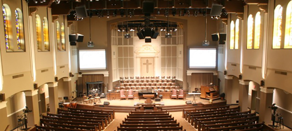 First Baptist Church in Midland, Texas.